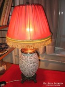 Gorka Géza mintás működő váza lámpa ernyővel 56 cm art deco