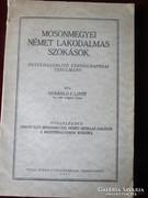 MOSON MEGYEI NÉMET LAKODALMAS SZOKÁSOK 1931 SVÁB LAKODALOM VÖFÉNY