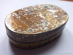 Pemetefű czukor régi cukorkás fémdoboz gyűjtőknek