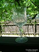 Metszett talpas pohár - öt darab