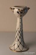 Art Deco fajansz kézzel festett, aranyozott váza