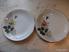 2 db virágos porcelán tányért árulok!