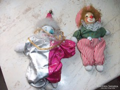 Porcelánfejű bohóc 2 db eladó!