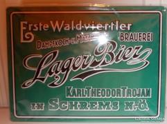 Lager sörös reklám lemeztábla 40x30cm (A-04)