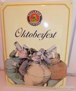 Oktoberfest paulaner  sörös reklám lemeztábla 40x30cm (A-08)