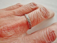 Szép antik ezüst karikagyűrű