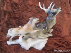 Royal Dux szarvasvadászat