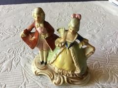 Altwin miniatüra porcelán barokk páros 9 cm-es