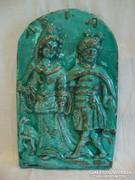 Jelzett kerámia falikép , ASIA