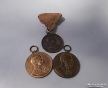 3 darab Ferenc József kitüntetés