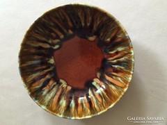 Gránit: barna tál,kínáló, asztalközép (79)