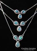 Ezüst nyaklánc, Ausztrál fekete opál medállal
