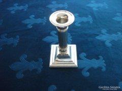 Gyertyatartó-ezüstözött-dór oszlop forma-15,5 cm