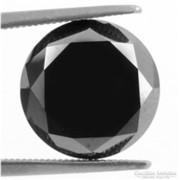 Csodás fekete gyémánt/moissanit Dél- Afrikából 9,2 ct