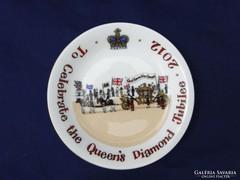 0F815 Isten óvd a királynőt porcelán tányér 2012