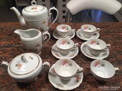 Gyönyörű porcelán kávéskészlet