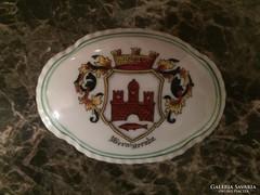 Porcelán bonbonier  város jelképpel