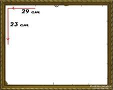 0H097 Régi aranyozott képkeret 23 x 29 cm