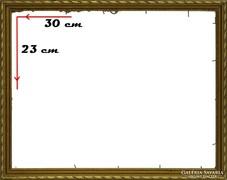 0H100 Régi aranyozott képkeret 23 x 30 cm