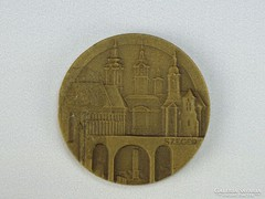 0G875 SZEGED TOURIST bronzplakett Lapis András