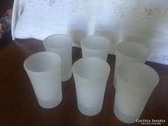6db Savmaratott Tejüveg Likőrös Pohár