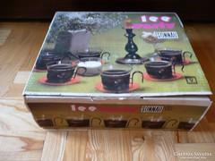 Retro NDK teás készlet 70-s évek, GDR Sonnau Tee-Party