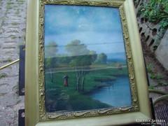 Dézsy szignóval ellátott régi festmény.