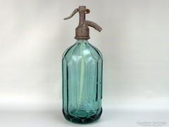 0G714 Régi feliratos zöld szódásüveg TURUL 1933