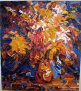 Medgyessy-Kovács Gyula: Virágcsendélet c. festménye