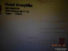 Hotel Aranybika. Borikét és Levélpapír.