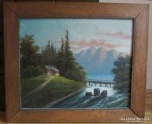 Alpesi táj - Molnár szigno 67 x 54 cm