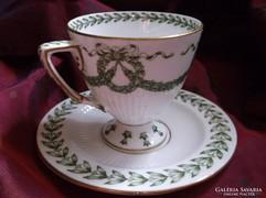 Sarreguemines Epoque Napoleon antik csésze és csészealj