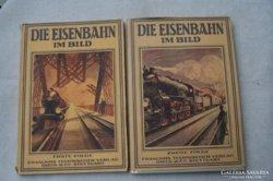 Die Eisenbahn im Bild I-IV, + 1 német vasutas könyv
