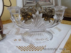 Mutatós üveg gyertya tartó