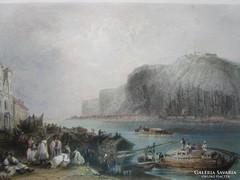 BUDAPEST GELLÉRTHEGY PEST -RŐL metszett 1868