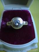 Ezüst button gyűrű