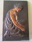 Gyönyörű réz vagy bronz falikép