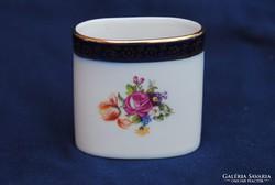 Hibátlan Meisseni porcelán ovális vázácska, kínáló