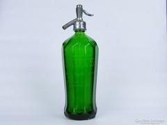0D892 Gyűjtői antik amerikai zöld szódásüveg USA