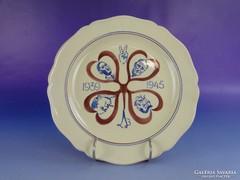 0F586 Régi világháborús emlék tányér 1939 - 1945