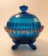 Kobaltkék art deco bonbonier