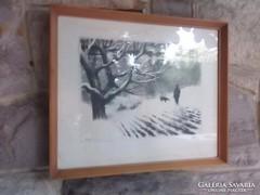 Kórusz J./Veszprém,1927-2010 Veszprém/  Vadászaton 48x39 cm