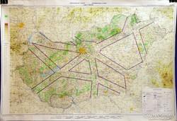 0H589 ICAO Magyarország légiforgalmi térkép 1983