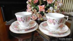 Colclough angol porcelángyártó Wayside elnevezésű teás triók