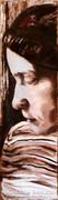 Molnár István: Női portré barnában