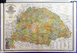 0H870 Nagymagyarország laminált térkép 45 x 66 cm