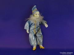 0H992 Kékruhás velencei porcelánbaba 16 cm