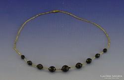 0H999 Divatos női bizsu nyaklánc nyakék