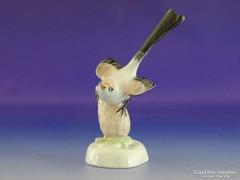 0H980 Régi Aquincum porcelán madár figura
