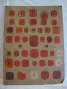 Antik viaszpecsét gyűjtemény 22 db koronás címeres grófi